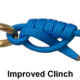 Рыболовный узел Improved Clinch